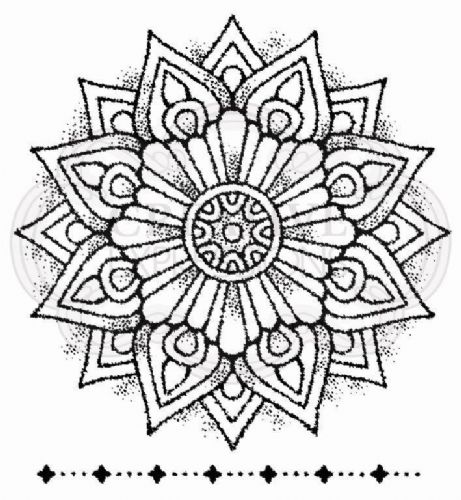 Mandala One Clear Woodware Stamp (FRS077)